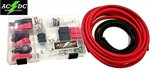 2 GAUGE TOP POST RELOCATION DIY SOLDERING BATTERY CABLE KIT 12'Red/3'Blk