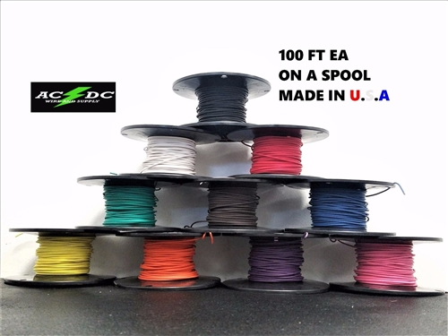 1000\' AUTOMOTIVE WIRE 18 AWG HIGH TEMP GXL STRANDED WIRE 10 COLORS ...