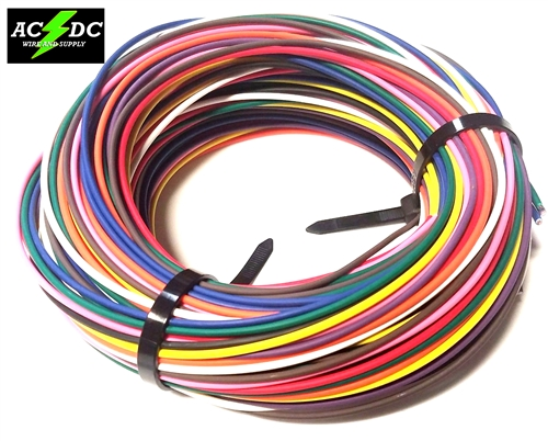 250' AUTOMOTIVE WIRE 18 AWG HIGH TEMP GXL STRANDED WIRE 10 COLORS 25 on
