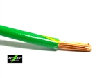 THHN 10 AWG GAUGE GREEN/YELLOW STRIPE NYLON PVC STRANDED COPPER BUILDING WIRE