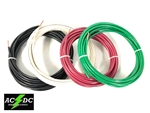 25' FEET EA THHN THWN-2 8 AWG GAUGE RED BLACK GREEN WHITE COPPER BUILDING WIRE