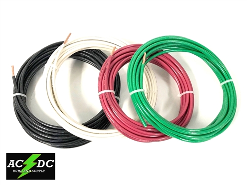 75/' EA THHN THWN 8 AWG GAUGE BLACK WHITE RED COPPER WIRE 10 AWG GREEN