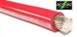 1/0 Gauge Battery Cable Marine Grade Tinned Copper (per ft) RED