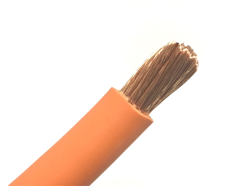 10/' 2//0 HIGHLY FLEXIBLE WELDING WHIP CABLE ORANGE 600V USA MADE EPDM COPPER AWG