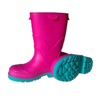 STORMTRACKS PVC KIDS' OVER-SOCK BOOTS - FUCHSIA