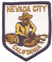 NEVADA CITY CALIFORNIA miner souvenir embroidered patch