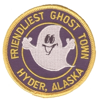 0-0119 - FRIENDLIEST GHOST TOWN HYDER, AK - souvenir embroidered patch