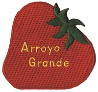 0-0574 - ARROYO GRANDE strawberry souvenir embroidered patch