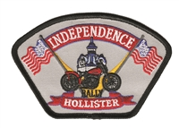 INDEPENDENCE RALLY HOLLISTER embroidered patch