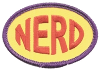 NERD embroidered patch.