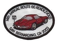 14tTH ANNUAL ROUTE 66 RENDEZVOUS  souvenir patch