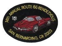 14TH ANNUAL ROUTE 66 RENDEZVOUS  souvenir patch.