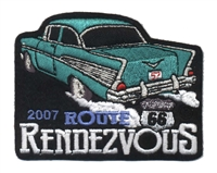 2007A ROUTE 66 RENDEZVOUS  souvenir patch