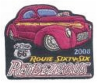 2008A ROUTE 66 RENDEZVOUS  souvenir patch