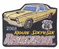 2008B ROUTE 66 RENDEZVOUS  souvenir patch