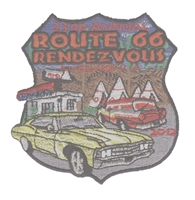 ROUTE 66 RENDEZVOUS  2012 souvenir patch