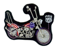 0066-B-53 A - old school '53 panhead hardtail motorcycle bike souvenir embroidered patch