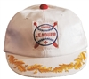 JUNIOR LEAGUER child white cotton cap.