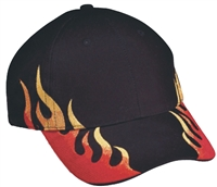 Brushed cotton raging flame fire cap.