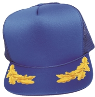 "Poly-Mesh ""trucker"" cap with gold scrambled eggs"