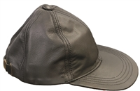 Black leather low profile cap.
