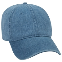 low profile cotton denim cap hat