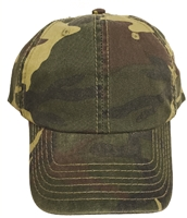 low profile cotton camo cap.