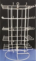 65 prong counter display rack for patches and pins.