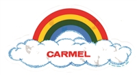 CARMEL rainbow cloud static cling decal