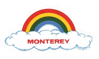 MONTEREY rainbow cloud static cling decal