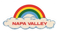 NAPA VALLEY rainbow cloud static cling decal