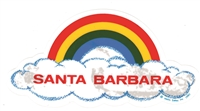 SANTA BARBARA rainbow cloud static cling decal