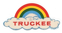 TRUCKEE rainbow cloud static cling decal