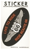 LIVE TO RIDE, RIDE ROUTE 66 souvenir sticker