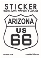 0450-1116 - ARIZONA US 66 sticker, AZ, ARIZ
