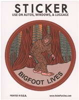 BIGFOOT LIVES novelty sticker