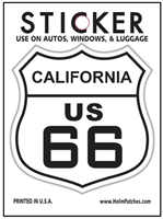 CALIFORNIA US 66 sticker