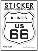 ILLINOIS US 66 sticker
