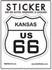 KANSAS US 66 sticker