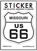 MISSOURI US 66 sticker