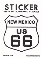 0450-2566 - NEW MEXICO US 66 sticker