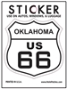 OKLAHOMA US 66 sticker, route 66