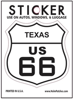 TEXAS US 66 sticker