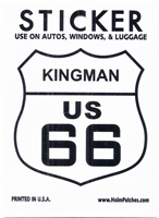 KINGMAN US 66 sticker