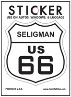 SELIGMAN US 66 sticker