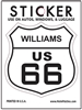 WILLIAMS US 66 sticker