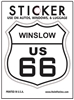 WINSLOW US 66 sticker, route 66