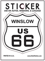 WINSLOW US 66 sticker