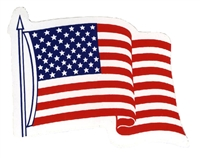 0450-6836 - US wavy flag sticker