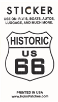 0450-6878 - HISTORIC US 66 sticker